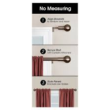 Target Curtain Rod Ends by Easy Install Drapery Window Rod Target