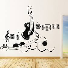 Abstract Violin Wall Sticker Music Notes Decal Home Decor