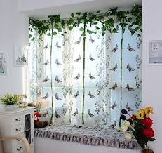 curtain for kitchen windows amazon com