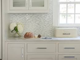 white and gray mosaic marble kitchen wall tiles transitional