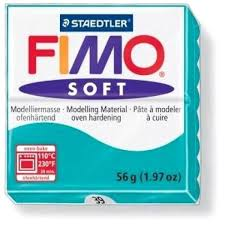loisirs créatifs 1 56g pate polymère fimo soft bleu menthe