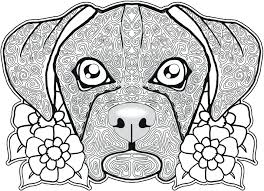 Dog Coloring Page Pages Free Sugar Skull Download Pdf Colouring Full Size