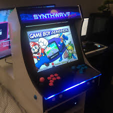 """Pics] - Finished My """"Synthwave Arcade"""" Bartop : Cade Tmnt Bartop Arcade Youtube Retro Machine 520 Games Space Invaders Theme Ebay 17 Cabinet Kit 10 Diy Projects That Build With Windows And Intel Stick Coffeehouse Supreme Ultimate Raspberry Pi Arcade Pinteres 2 Player White Pvc Blue Led Buttons Running Suppliers Manufacturers At Amazoncom Tablebartop With 412 Toys Mini Machines On Twitter Custom Donkey Kong Neo Geo System"""