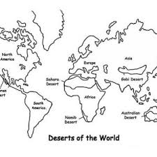 Deserts Of The World In Map Coloring Page