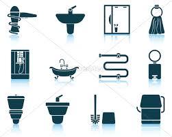 lizenzfreie vektorgrafik 14772107 set badezimmer symbol