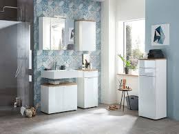 pittsburgh badezimmer set weiß glas eiche navarra günstig möbel küchen büromöbel kaufen froschkönig24