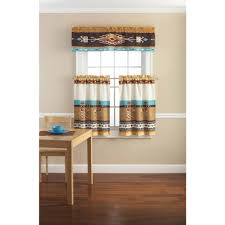 Mainstays Kokopelli Printed Valance And Kitchen Curtains Set