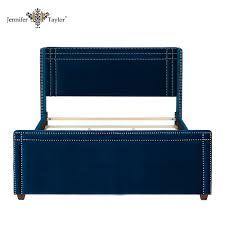 Blue Velvet King Headboard by Velvet Bed Velvet Bed Suppliers And Manufacturers At Alibaba Com