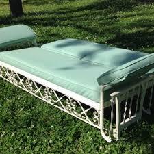 Meadowcraft Patio Furniture Glides by J R Bunting Sleeper Glider U2014 Vintage Metal Furniture Vintage