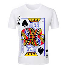 wholesale king ace queen jack playing cards poker tshirt printed t