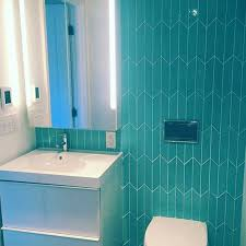 Teal Bathroom Tile Ideas by 59 Best Blue Tile Images On Pinterest Blue Tiles Glass Subway