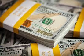 Background New 100 US Dollars 2013 Banknotes Stock Image