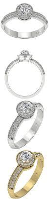 Diamond 2 95 Ct Vs1 H Round Cut Diamond Engagement Ring 14K