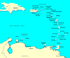 Nevis British West Indies Map