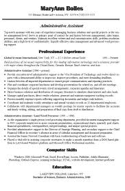 Administrative Assistant Resume Example Sample Rh Resource Com Cover Letter For