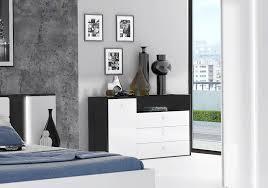 kommode sideboard anrichte 139 5cm weiß hochglanz schwarzeiche modern