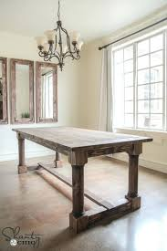 Diy Dining Room Table Legs Rustic Plans With Turned
