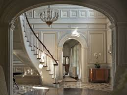 Foyer Of A Georgian Colonial Mansion In Greenwich CT Description From