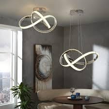 deckenle küche metall aluminum mit stoffschirm rund für