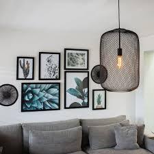 qazqa moderne schwarze hängele pendelle pendelleuchte esstisch esszimmer bliss mesh wohnzimmer schlafzimmer küche stahl