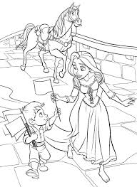 Tangled Coloring Pages Online Free Printable Princess Preschool Pascal Disney Full Size