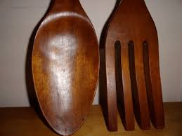 large wooden fork and spoon wall hanging oversized spoon and fork wall decor target design idea and