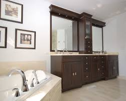 double vanity with center tower bathroom master bath design
