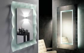 lighted wall mirror for bathroom creative home decoration