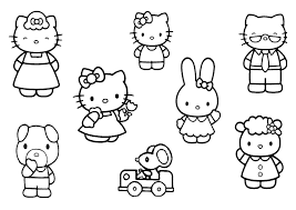 Image Of Hello Kitty Coloring Pages To Color