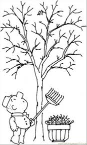 7 Pics Of Bare Fall Tree Coloring Page