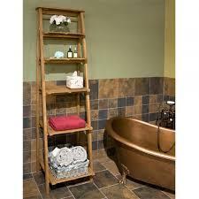 Teak Bathroom Shelving Unit by Ideas Bathroom Shelving Intended For Superior Oversized Ladder