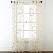 Chiffon Curtains Online India by Sheer Curtains Panels U0026 Window Sheers Jcpenney
