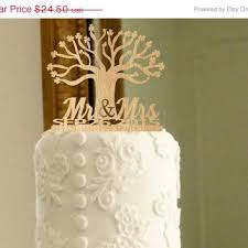 Fall Sale Rustic Wedding Cake Topper