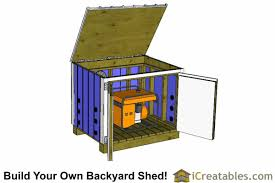 5x4 generator enclosure plans 5x4 generator shed plans