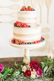 Semi Naked Berry Cake From A Modern Rustic Baby Shower On Karas Party Ideas
