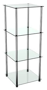 standregal wm503 mit glas ablagen glasregal ricoo
