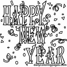 New Years Eve Coloring Sheet Year39s Pages Cartoonrocks Free