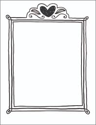Valentines Day Coloring Page Frame