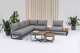 zebra fly lounge set 4 teilig inkl kissen mixed grey