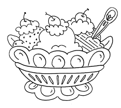 Ice Cream Banana Split And Coloring Pages