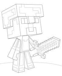 How To Draw Minecraft Skins Coloring Pages For Kids Steve Diamond Armor Page