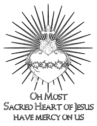 FREE Sacred Heart Of Jesus Coloring Page