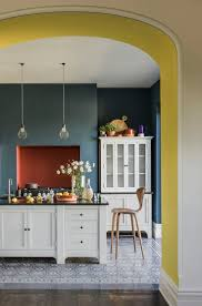 Colour Block Kitchen With Yellow Teal And Terracotta Accents A Bright Easy Update