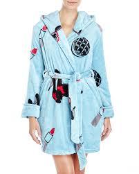 betsey johnson printed plush robe in blue lyst