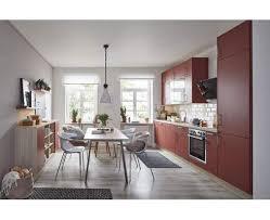 global wohn küche 54 160 in lack terracottarot samtmatt und