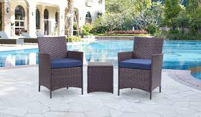 3 Piece Outdoor Garden Bistro Set All-Weather Rattan Wicker Patio Color  Options Americana Wicker Bistro Table And Chairs Set Plowhearth Royalcraft Cannes Brown Rattan 3pc 2 Seater Cube Breakfast Ceylon Outdoor 3piece By Christopher Knight Home Hampton Bay Aria 3piece Balcony Patio Sirio Valentine Swivel Ellie 3 Piece Folding Fniture W Round In Dark Outdoor Cast Alinium Rattan Ding Sets Georgina With Cushions Wilko Effect