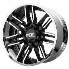 100 Black And Chrome Rims For Trucks Moto Metal MO202 20x10 8x65 18mm Wheel Rim 20 Inch