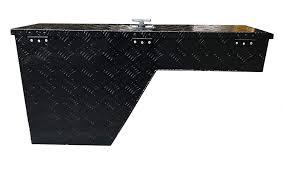 100 Black Tool Box For Truck Brait BR10 38 Pork Chop Fender Well Aluminum Right