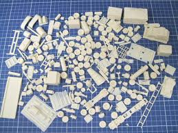 100 Resin Model Truck Parts 187 Ho Scale Lot Of Detail To Customize Miniature