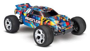 100 Stadium Truck 370764 Rustler VXL 110 Scale Rock N Roll Color